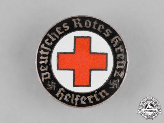 Germany, Deutsches Rotes Kreuz. A German Red Cross (DRL) Female Auxiliary Badge by Hermann Aurich, Dresden