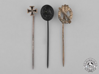 Germany, Wehrmacht. A Grouping of Three Second War Period Stick Pins