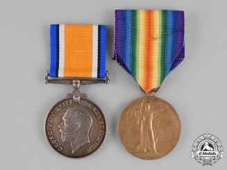 Canada. A First War Pair, to Lieutenant Peter Scott, Railway Construction Corps
