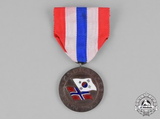 Norway, Kingdom. A Korean Association Medal
