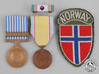 Norway, Kingdom. A Korean War Group to the Normash Mobile Surgical Hospital under the United States Eighth Army