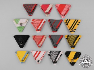 Austria, Empire. A Selection of 15 Original Austrian Triangular Ribbons
