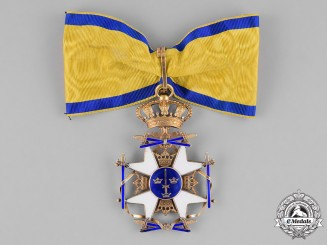 Sweden, Kingdom. An Order of the Sword in Gold, Commander, c.1918
