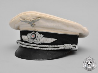 Germany, Luftwaffe. An Officer's Summer Visor Cap by Robert Lübstein