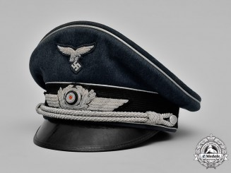 Germany, Luftwaffe. A Luftwaffe Officer's Visor Cap by Wilhem Holters.