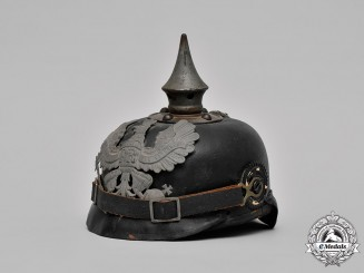 Prussia, State. A Heer (Army) EM's Pickelhaube, c.1915