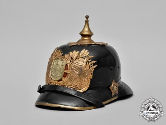 Portugal, GNR. A Portuguese National Republican Guard (Guarda Nacional Republicana) Pickelhaube,