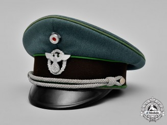Germany, Ordnungspolizei. A Schutzpolizei (Protection Police) Officer's Visor Cap by Hans Pöllmann