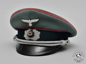 Germany, Heer. A Veterinarian Officer's Visor Cap by Robert Lübstein