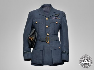 Canada. An Officer's Cap & Tunic, Named to Mosquito Pilot and DFC Recipient, 418 Squadron