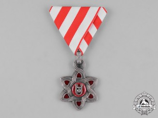 Croatia, Independent State. An Order of Merit, III Class Badge, Muslim Version c.1942