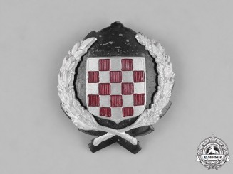 Croatia. An Army Officer's Cap Badge, c.1941