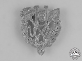 Croatia, Independent State. A Rare Ustasha Youth Silver Badge