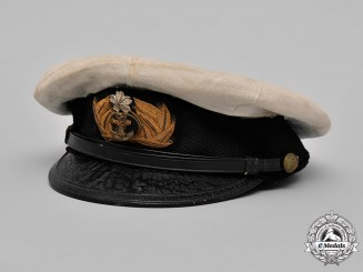 Japan, Imperial. A Japanese Naval Officer's White Cover Summer Uniform Visor Cap