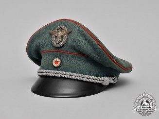 Germany, Ordnungspolizei. A Landwacht Officer's Visor Cap