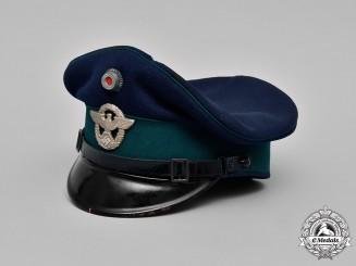 Germany, Ordnungspolizei. A Landespolizei (State Police) EM/NCO's Visor Cap, c. 1937