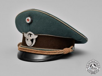 Germany, Ordnungspolizei. An Ordnungspolizei (Order Police) Administration Officer's Visor Cap