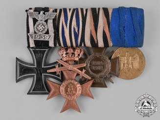 Germany, Third Reich. A First and Second War Period German Medal Bar