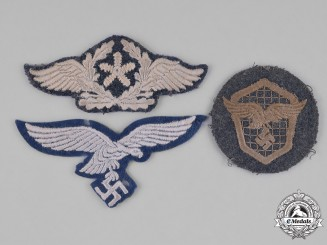 Germany, Luftwaffe. A Group of Luftwaffe Eagle Insignia