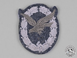 Germany, Luftwaffe. A Luftwaffe Air Gunner;s Badge, Cloth Version