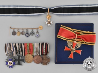 Germany, Imperial. A Superb Bavarian Military Order of Max Joseph, Awarded to Austrian/Croatian Field Marshal Franz Csorich von Monte Creto, in 1814, Prussian General Ludwig von Wittich in 1870, and Major Dr. Günther von Pechmann for Battle of Verdun, WW1