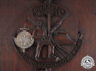 Canada. Gibraltar Key 1941-1942, to Sapper Collin Andrew Cavil, No.1 Tunnelling Company, Royal Canadian Engineers