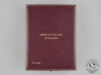 Malawi (Republic). Order of the Lion of Malawi, V Class Member, Case Only by Spink of London