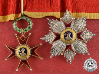 Vatican. Pontifical Equestrian Order of St. Gregory the Great for Civil Merit, Commander's Set