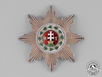 Hungary, Kingdom. An Order of St. Stephen, Grand Cross Star, c. 1900