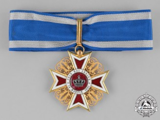 A Romanian Order of the Crown of Romania, Commander, Civil Division, Type I (1881-1932)