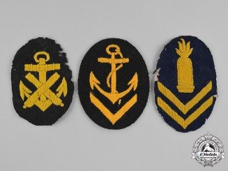 Germany, Kriegsmarine. A Group of Second War Period Kriegsmarine Petty Officer Career Patches