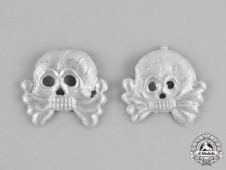 Germany, Heer. A Set of Heer (Army) Panzer Dress Uniform Collar Tab Skulls