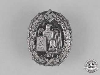 Germany. A 1937 Saxony Regional Weel Celebration Badge