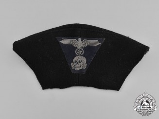 Germany, Waffen-SS. A Cut-Off SS Panzer EM/NCO's M43 Field Cap Insignia