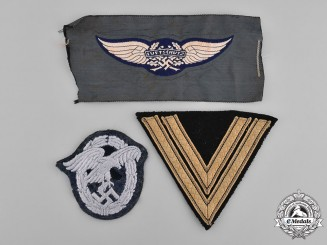 Germany, Third Reich. A Group of Second War Period Uniform Insignia