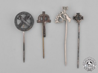 Germany, Third Reich. A Group of Third Reich Period Stick Pins