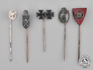 Germany, Third Reich. A Group of Second War Period Stick Pin Medals