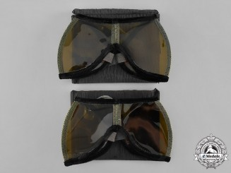 Germany, RLB. A Pair of Reichluftschutzbund (Reich Air Protection League) Flak Crew Goggles with Cases