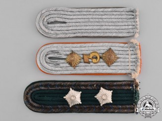 Germany, Third Reich. A Grouping of Third Reich Period Police Shoulder Boards