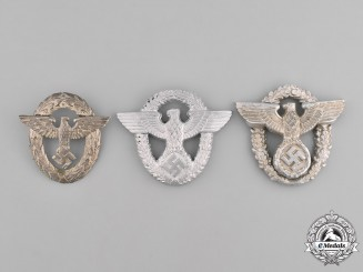 Germany, Ordnungspolizei. A Grouping of Ordnungspolizei (Order Police) Cap Eagles