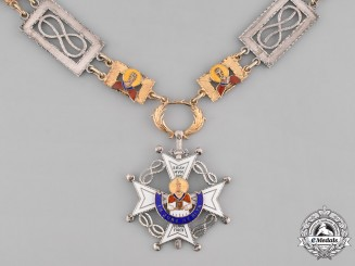 Spain, Franco Period. An Order of the Cross of St. Raymond of Peñafort, Collar of Honor, c.1950