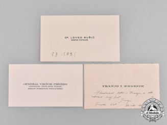 "Croatia, Independent State. Three ""Happy Easter"" Card from High Ranking Croatian Officials/General, c.1944"