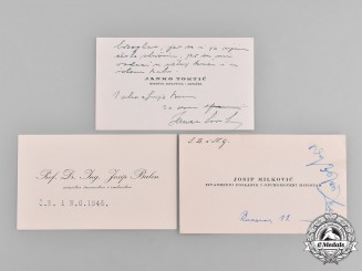 "Croatia, Independent State. Three ""Happy Easter"" Card from High Ranking Croatian Officials, c.1944"