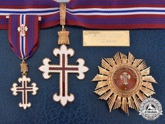 Portugal, Republic. An Order of Military Merit, I Class Set, by Casa Bastão, c.1980
