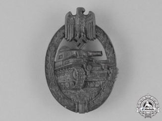 Germany, Wehrmacht. A Panzer Assault Badge, Slver Grade, by Hermann Aurich