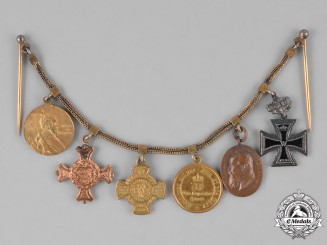 Bavaria, Kingdom. A Miniature Medal Award & Decoration Chain, c.1910