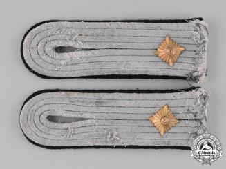 Germany, Heer. A Pair of Second War Pioneer/Engineer Oberleutnant Shoulder Boards