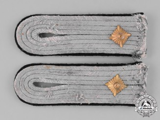 Germany, Heer. A Pair of Second War Pioneer/Engineer Oberleutnant Shoulder Boards