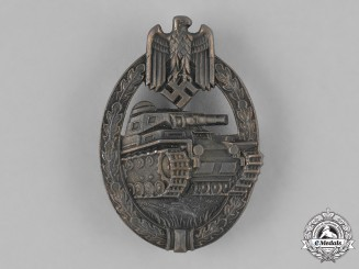 Germany, Heer. A Panzer Assault Badge, Bronze Grade, Type 1 by Hermann Aurich