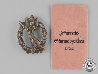Germany, Heer. A Bronze Grade Infantry Assault Badge by Josef Feiz und Söhne